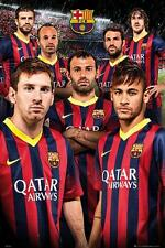 Barcelona Players 2013 - 2014 - Maxi Poster 61cm x 91.5cm new and sealed