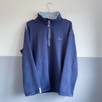 Joules Half Zip Blue Jumper Sweater Size Large Womens