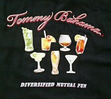 """Tommy Bahama Embroidered Shirt (XL) Cocktails, says """"Diversified Mutual Fun"""""""