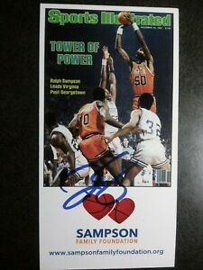 RALPH SAMPSON Authentic Hand Signed Autograph 4X6 Photo CARD - BASKETBALL PLAYER