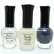 3 Kleancolor Nail Polish Top Coat / Madly Matte / Concrete Gray Set - 3SET31