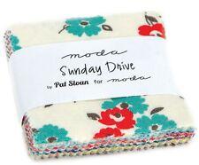 "Sunday Drive Moda Mini Charm Pack 42 100% Cotton 2.5"" Precut Fabric Squares"
