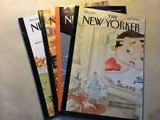 The New Yorker Magazine All November 2017: 6,13,20,27 (Lot of 4) -Free Shipping