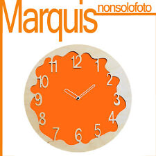 """Reloj de pared Art. 046 """"Ombre"""" naranja amarillo 2000 Pirondini Marquis"""