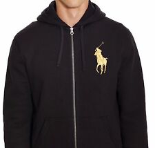 c8527c993b5b Polo Ralph Lauren Big Pony Hooded Black Sweater Jacket Sz M