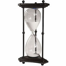 """1 Hr. Hourglass Sand Timer In Stand White 16.5"""" - 36882-WHIT"""