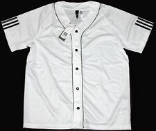 Adidas Men's Athletics Sport Jersey Size L Baseball Style White Nwt