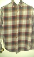 Eddie Bauer Shirt Men's Long Sleeve Button Down Plaid Flannel Size large