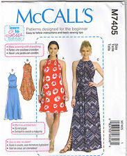 Gathered Neck Dress with Ties Belt Learn to Sew For Fun Pattern L XL XXL 16-26