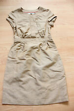 BODEN caramel summer weekender linen/cotton   dress size 8p petite  NEW