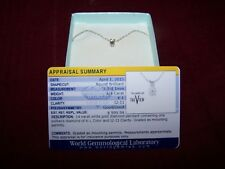 14 carat white gold diamond pendant/one solitaire diamond/66% off value of $1K