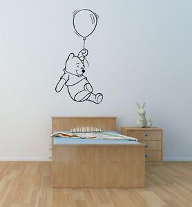 Winnie the Pooh wall art sticker children bedroom playroom nursery toy room diy