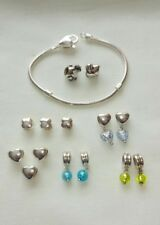Lovelinks Heart Clasp Silver Bracelet with 14 Charms