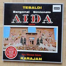B100 SXL 2167/69 KARAJAN VERDI AIDA TEBALDI BERGONZI 3 x LP DECCA STEREO