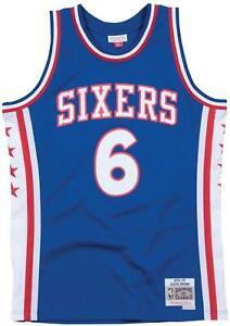 Julius Erving Philadelphia 76ers 6 BLUE NBA Basketball Swingman Jersey shirt