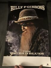Z.Z. Top Billy Gibbons Full Double Sided Color Poster 11x17 The Big Bad Blues