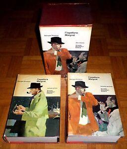 """Georges Simenon """"L'ISPETTORE MAIGRET"""" Omnibus Mondadori (2 volumi+cofanetto)"""
