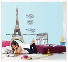 Gigante Torre Eiffel PARIGI Adesivi Da Parete Decorazione D'interni Decalcomania