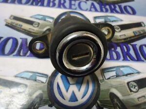79 93 VW CABRIOLET RABBIT CONVERTIBLE MK1 OEM  TRUNK HATCH ROUND CHROMED  LOCK