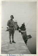PHOTO ANCIENNE - VINTAGE SNAPSHOT - MILITAIRE PÊCHE PÊCHEUR - MILITARY FISHING