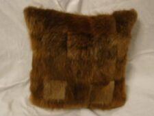 Genuine Beaver Pieced Fur Pillow
