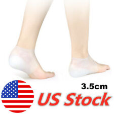 Invisible Height Increase Socks Heel Pads Silicone Insoles Foot Massage US Stock