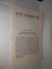 TRATTATO DI TRIGONOMETRIA PIANA Luigi Ferrario Sonzogno 1950 tecnica scienze di