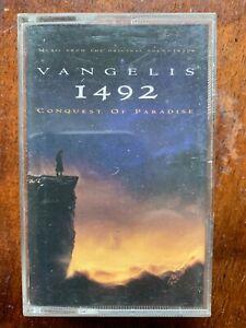 1492 Conquest De Paradis Vangelis Audio Cassette Audio Film Bande Sonore Album