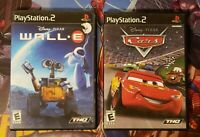 Awesome Playstation 2 PS2 Disney Pixar Cars & Wall-E both complete