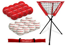 PowerNet 12 Practice Baseballs 12 Limited Flight Crushers Ball Caddy Bundle