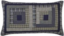 Columbus Metro Preppy Blue & Tan Hand-Quilted Patchwork Luxury King Pillow Sham
