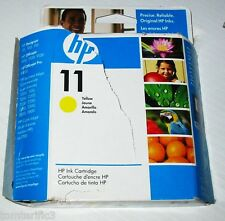 Genuine NEW HP 11 C4838A Yellow Ink Cartridge expired 9/2009 open box sealed ink