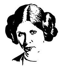StarWars Princess Leia vinyl car Decal / Sticker
