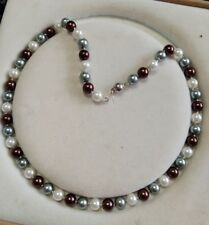 8mm multicolor Akoya Shell Pearl necklace AAA 18 inches  Y07