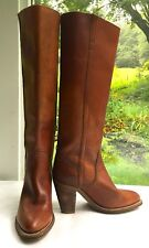 """Women's Vintage Frye Boots, 3 1/2"""" Heels, Made in Usa, Size 5"""