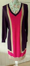Wool Blend V-Neck Long Sleeve Jumper Dresses for Women