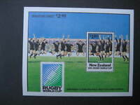 NEW ZEALAND 1991 WORLD CUP RUGBY MINIATURE SHEET NHM SG MS1627