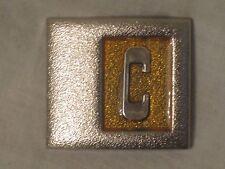 """vintage Lee N.Y. U.S.A. belt buckle II-29 letter"""" C """" accessory monogram"""