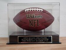 Football Display Case With A Miami Dolphins Perfect Season Champions Nameplate
