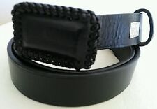 LAUREN RALPH LAUREN Women's Black Genuine Leather belt Size M Made in Argentina