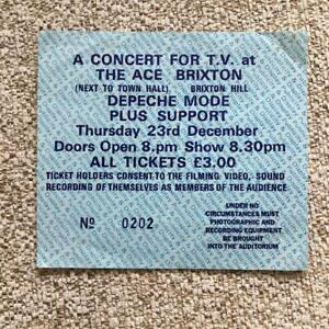 Depeche Mode ticket The Ace Brixton 23/12/82 #0202