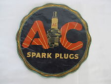 Original Old Vintage AC Spark Plug Sign Window Transparency Sticker AC Delco GM