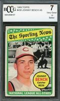 1969 Topps #430 Johnny Bench Card BGS BCCG 7 Very Good+