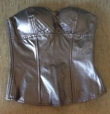 Faux Leather Zip Regular Size Corsets & Bustiers for Women