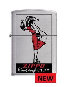 NEW RED ZIPPO  WINDPROOF LADY  ZIPPO LIGHTER   FREE  UNITED  KINGDOM  SHIPPING.