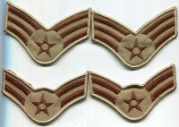 US Air Force Stripes Combat Patch Desert Tan DCU 2 Pair