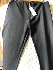 Eileen Fisher Slim Ankle Pant Womens Trousers Charcoal Grey Medium