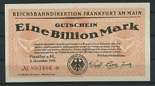 Reichsbahndirektion Frankfurt am Main   -   1 Billion Mark