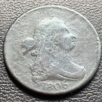 1806 Draped Bust Half Cent 1/2 Cent Circulated #29035
