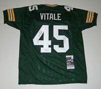 PACKERS Danny Vitale signed custom green jersey w/ #45 JSA COA AUTO Autographed